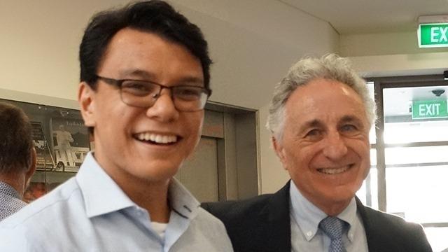 BMECAS (Hons) scholar - Miguel with James Piscatori